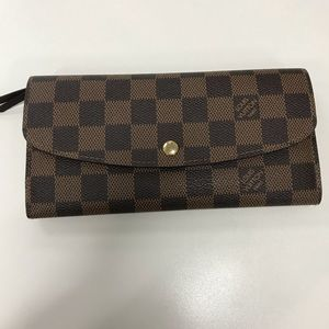 LOUIS Vuitton Emile wallet damier ebene